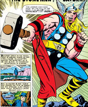 Thor Odinson (Earth-616) Donald Blake transforms into Thor for the first time in Journey into Mystery Vol 1 83