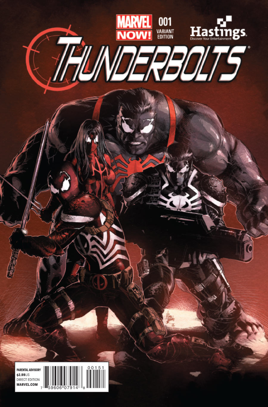 Thunderbolts Vol 2 1 Hastings Variant