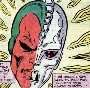 Vision's brein verbonden met ISAAC (Avengers -251)