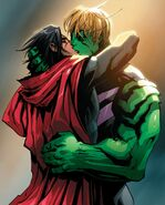William Kaplan (Earth-616) and Theodore Altman (Earth-616) kissing from New Avengers Vol 4 6 001