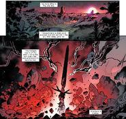 Okkara (Earth-616) Arakko (Earth-616) and Krakoa (Earth-616) from Powers of X Vol 1 4