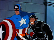 Wolverine (Logan) (Earth-92131) and Steven Rogers (Earth-92131) from X-Men The Animated Series Season 5 11 004