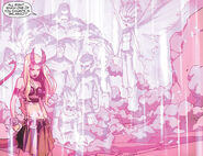 Illyana Rasputina (Earth-616) and Xavier Institute student body from New X-Men Vol 2 41 0001