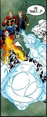 Jason Garrick (Earth-9602), Iris Simpson (Earth-9602), Blaze Allen (Earth-9602), and Wallace West (Earth-9602) from Speed Demon Vol 1 1 001