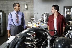 Jason Wilkes (Earth-199999) and Howard Stark (Earth-199999) from Marvel's Agent Carter Season 2 3 001