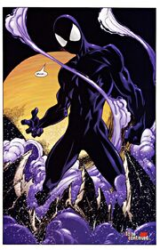 Peter Parker (Earth-1610) and Venom (Symbiote) (Earth-1610) from Ultimate Spider-Man Vol 1 34 0001