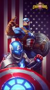 Steven Rogers (WWII) (Earth-TRN517) and Steven Rogers (Earth-TRN634) from Marvel Contest of Champions 001