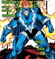 Blackagar Boltagon (Earth-616) faces off against Terrigen enhanced Kree from Inhumans the Great Refgure Vol 1 1