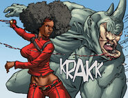 Mercedes Knight (Earth-616) and Aleksei Sytsevich (Earth-616) from Daughters of the Dragon Vol 1 1 0001