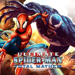 Peter Parker (Earth-TRN125), Edward Brock Jr. (Earth-TRN125), and Venom (Symbiote) (Earth-TRN125) from Ultimate Spider-Man Total Mayhem Promo 0001