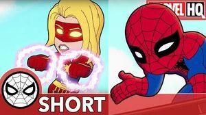 Spidey & Captain Marvel Ride a Rocket! Marvel Super Hero Adventures - Way Outer Space SHORT