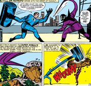Reed Richards (Earth-616) and Kl'rt (Earth-616) from Fantastic Four Vol 1 18 0001