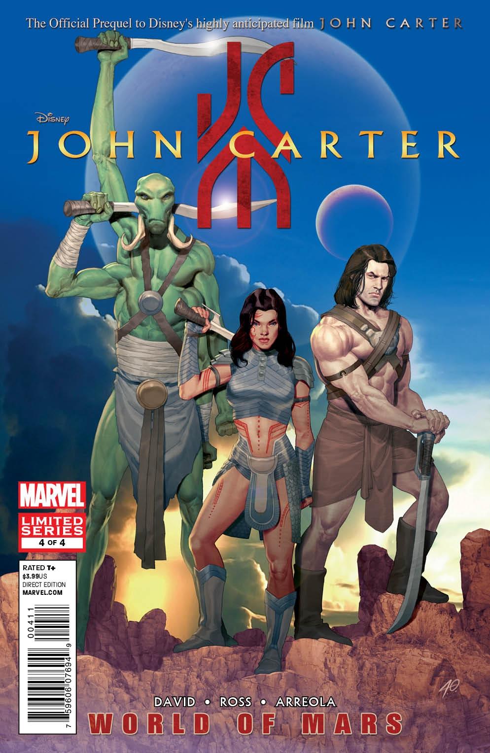 John Carter World Of Mars Vol 1 4 Marvel Database