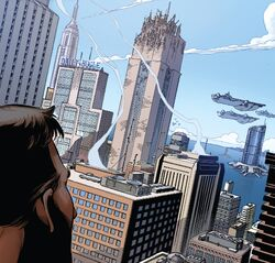 Manhattan from Spider-Men II Vol 1 5 001