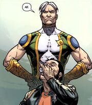 Noh-Varr (Earth-200080) and James Howlett (Earth-616) from Dark Reign The List - Wolverine Vol 1 1 0001