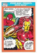Spider-Man Presents Iron Man from Marvel Universe Cards Series I 0001