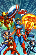 Avengers (Earth-2301) from New Mangaverse The Rings of Fate Vol 1 4 0001