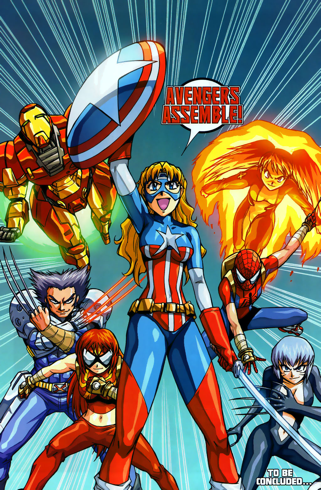 Avengers (Earth-2301) from New Mangaverse The Rings of Fate Vol 1 4