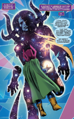 Eternity (Earth-TRN803) and Thanos (Earth-TRN803) from Thanos The Infinity Conflict Vol 1 1 001
