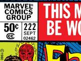 Fantastic Four Vol 1 222