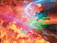 Victor von Doom (Earth-616) and Stephen Strange (Earth-616) vs. Mephisto (Earth-616) from Infamous Iron Man Vol 1 12 001
