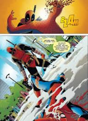 Wade Wilson (Earth-12101) and Peter Parker (Earth-12101) from Deadpool Kills the Marvel Universe Vol 1 2 0001