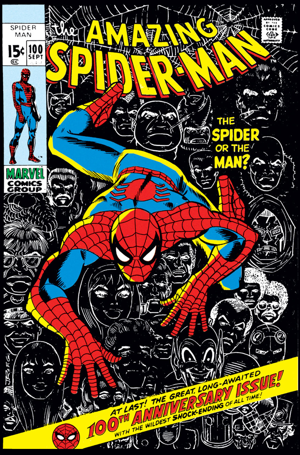 Image result for spider-man issue 100
