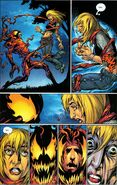 Gwendolyne Stacy (Earth-1610) and Carnage (Symbiote) (Earth-1610) from Ultimate Spider-Man Vol 1 62 0001