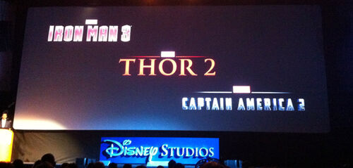 Marvel Studios Phase Two logos from Riccione 2012