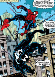 Peter Parker & Edward Brock (Earth-616) from Amazing Spider-Man Vol 1 363 0001
