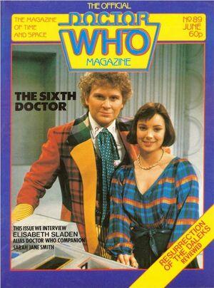 Doctor Who Magazine Vol 1 89