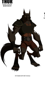 Fenris Wolf (Earth-8096) from Thor Tales of Asgard 001