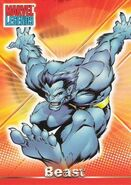 Henry McCoy (Earth-616) from Marvel Legends (Trading Cards) 0001