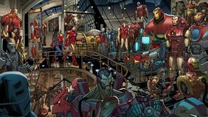 Iron Man Armor (Earth-1610) from Ultimate Spider-Man Vol 1 153 001