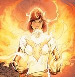 Hope Summers (Earth-616) and Phoenix Force (Earth-616) from Avengers vs. X-Men Vol 1 12 0002