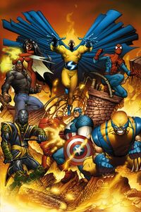 New Avengers Vol 1 1 Quesada Variant Textless