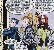 Ollie en Stanley gaan door de poort (X-Men -229)