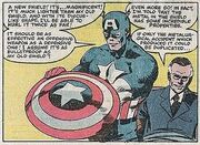 Steven Rogers (Earth-616) and Franklin Delano Roosevelt (Earth-616) from Captain America Vol 1 255 001