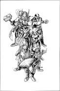 Uncanny Avengers Vol 1 1 Sketch Variant Textless