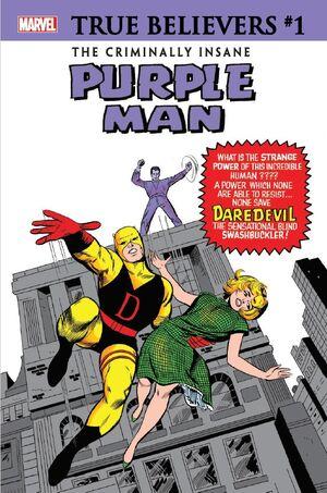 True Believers The Criminally Insane - Purple Man Vol 1 1