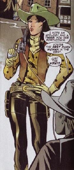 Arizona Annie (Earth-616) from Marvel Westerns Kid Colt and the Arizona Girl Vol 1 1 0001