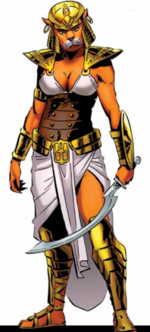 Hathor-Sekhmet (Earth-616) from Avengers Roll Call Vol 1 1 0001