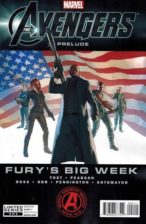 Marvel The Avengers Prelude Fury's Big Week Vol 1 2 Cover 2