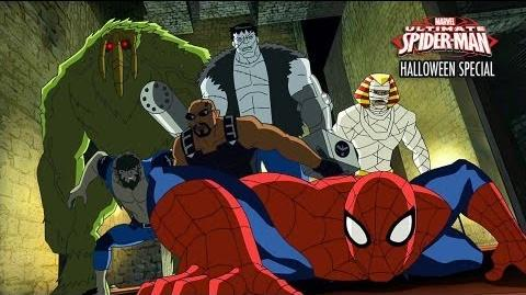 A preview of the Ultimate Spider-Man Halloween Special!