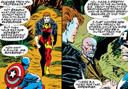 Jennifer Ransome (Earth-616), Steven Rogers (Earth-616), and Charles Xavier (Earth-616) from Avengers Vol 1 369 0001