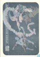 Peter Parker vs. Norman Osborn (Earth-616) from Marvel Universe Cards Series I Holographic 0001
