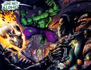 Johnathon Blaze (Earth-7642), Bruce Banner (Earth-7642), Sara Pezzini (Earth-7642), Franchetti Mafia (Earth-7642), and Danielle Baptiste (Earth-7642) from Darkness Incredible Hulk Vol 1 1 001