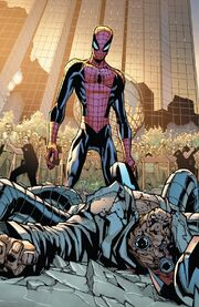 Otto Octavius (Earth-616) and Peter Parker (Earth-616) from Amazing Spider-Man Vol 1 700 0001
