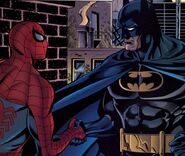 Peter Parker (Earth-7642) and Bruce Wayne (Earth-7642) from Batman and Spider-Man Vol 1 1 001