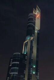 Stark Tower (Columbus Circle, Rebuilt) from Marvel's Spider-Man (video game) 001